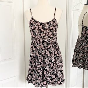 Forever 21 Small Black/Pink Floral Mini Dress